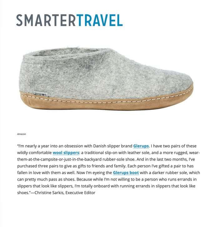 "SmarterTravel: ""I'm nearly a year into an obsession with Danish slipper brand Glerups."""
